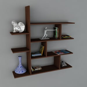 Polica Motif Book Wenge, 22x120x121,8 cm