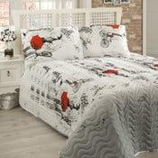 Pléd cez posteľ na dvojlôžko s obliečkami na vankúše Semspare, 200 x 220 cm