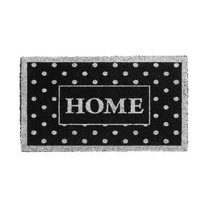 Strieborno-čierna rohožka Hamat Home Dots, 40x70cm