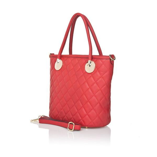 Kožená kabelka Markese 6398 Red