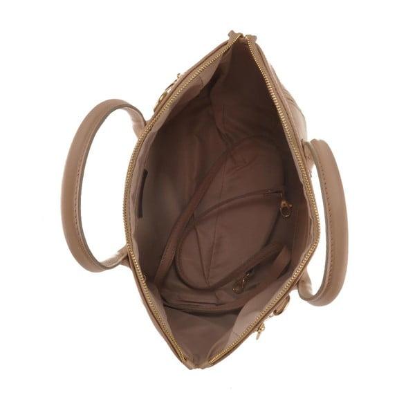 Kožená kabelka Sadira, béžová