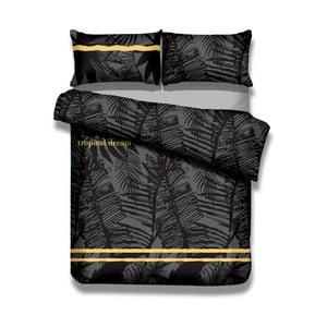 Sada bavlnenej obliečky na perinu a 2 obliečok na vankúše AmeliaHome Averi Tropical, 220×240 cm + 63×63 cm