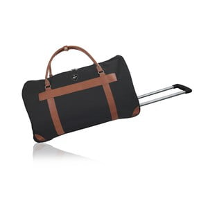 Čierna cestovná taška na kolieskách GENTLEMAN FARMER Oslo, 93 l