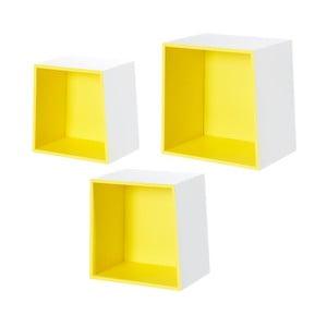 Sada 3 nástenných políc Furniteam Design