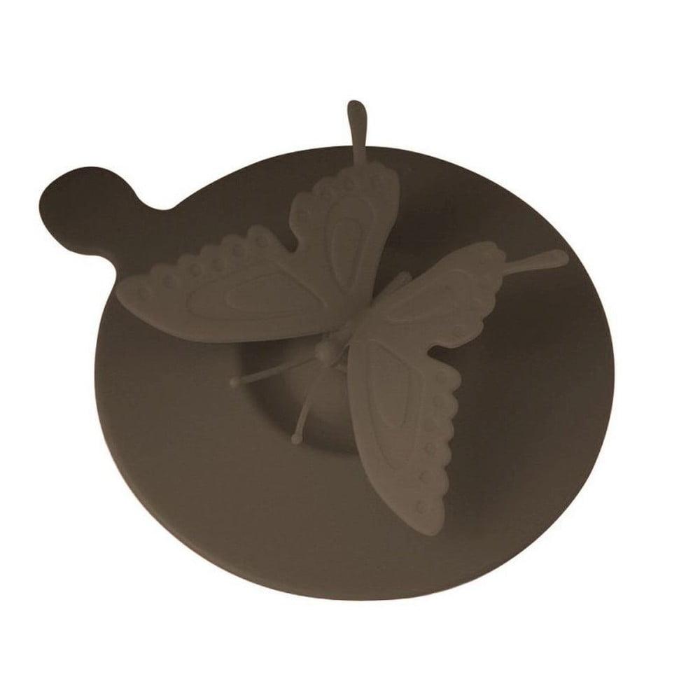 Silikónové viečko na hrnčeky Butterfly, hnedé