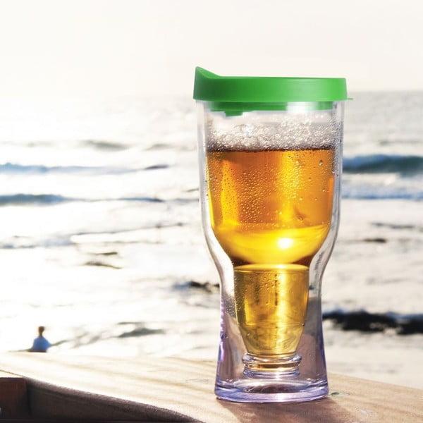 Nezničitelný pohár na pivo Brew2Go, zelená