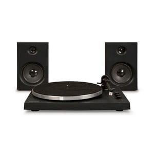 Čierny gramofón Crosley T150