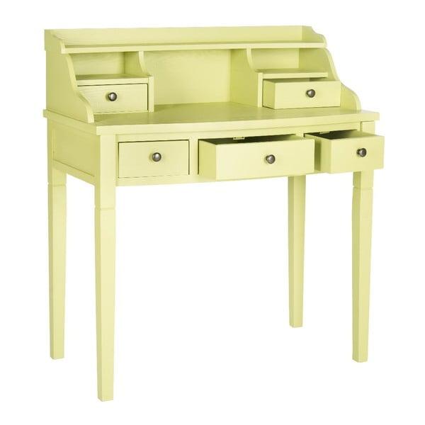 Žltý písací stôl Safavieh Olivia