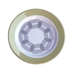 Sada 6 melamínových tanierikov Sunvibes Maillon Beige, ⌀ 20 cm