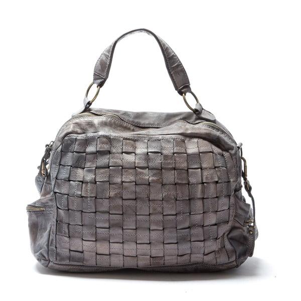 Kožená kabelka Mangotti 0004, sivá