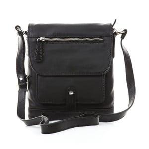 Čierna kožená kabelka Gianni Conti Liliana
