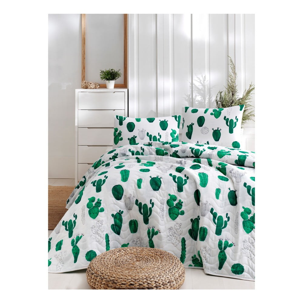 Set prikrývky cez posteľ a 2 obliečok na vankúše Masso Parento, 200 × 220 cm
