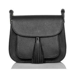 Čierna kožená kabelka Glorious Black Lies