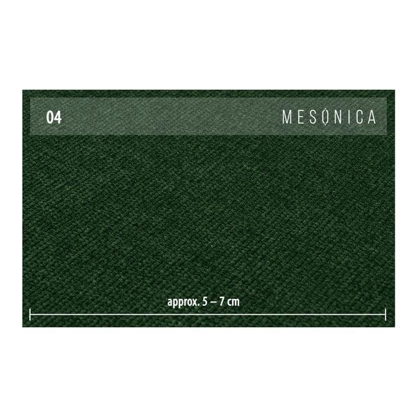 Zelená rohová pohovka s leňoškou na pravej strane MESONICA Puzo