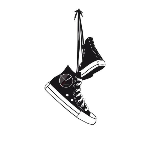 Hodiny so samolepkou Shoes