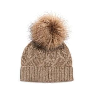 Hnedá kašmírová čapica Bel cashmere Dolores