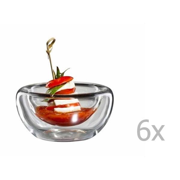Sada 6 stredných sklenených mištičiek bloomix