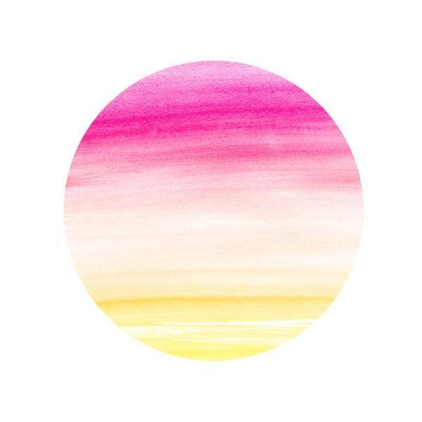 Sada 2 odkladacích stolíkov Watercolour Sunset, 35 cm + 49 cm