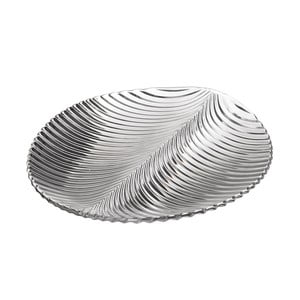 Sklenený tanier v tvare listu Unimasa, 28,5×26,2 cm