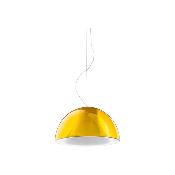 Závesné svietidlo Pedrali L002S/BA, žlté transparentné