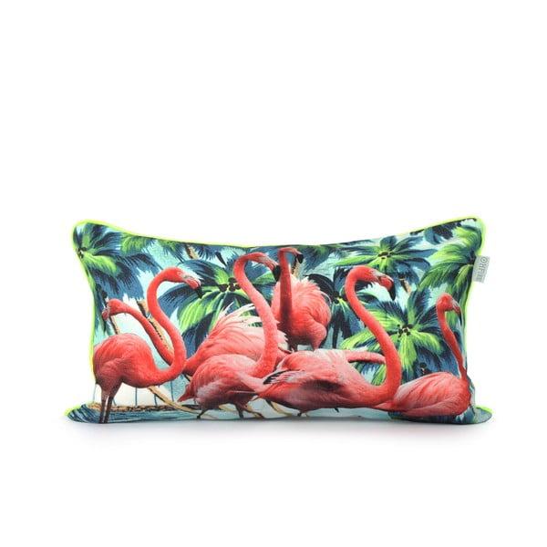 Bavlnená obliečka navankúš HF Living Flamingos 50x30cm