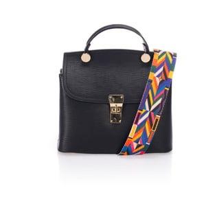 Čierna kožená kabelka Giorgio Costa Nicoletta