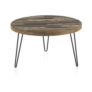 Konferenčný stolík s doskou z brestového dreva Geese Cala, ⌀ 71 cm