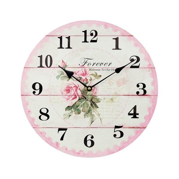 Nástenné hodiny Ross Pink, 34 cm