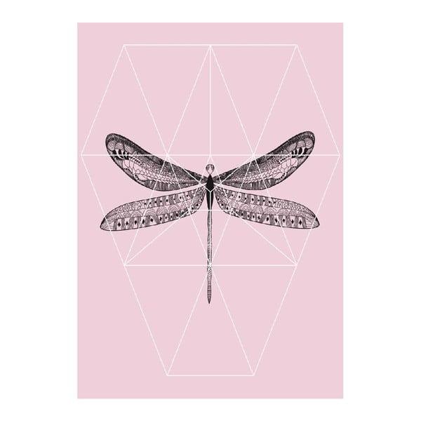 Plagát Pink Fly, A3