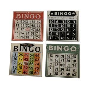 Sada 4 podtáciek na poháre Bingo