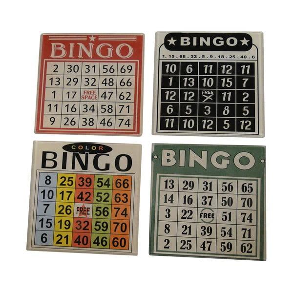 Sada 4 podtáciek na poháre Antic Line Bingo