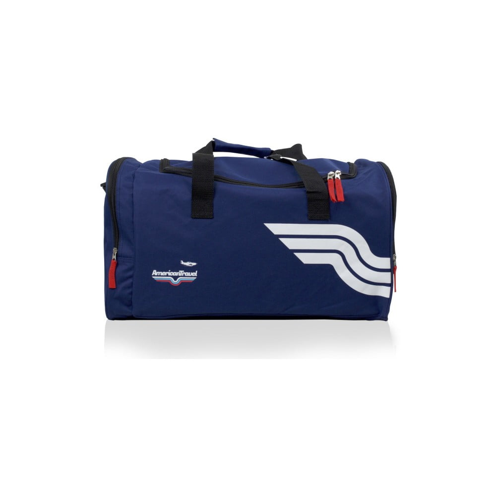 96e7e4b664450 Modrá športová taška American Travel Boston