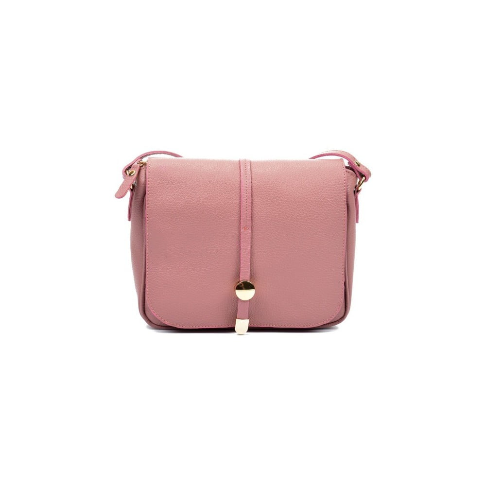 Ružová kožená kabelka Renata Corsi Rozzno 41fd7afc018