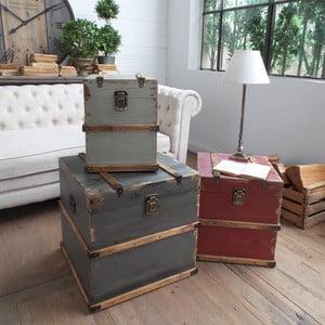 Sada 3 odkladacích stolíkov / dekoratívnych kufrov Trunks