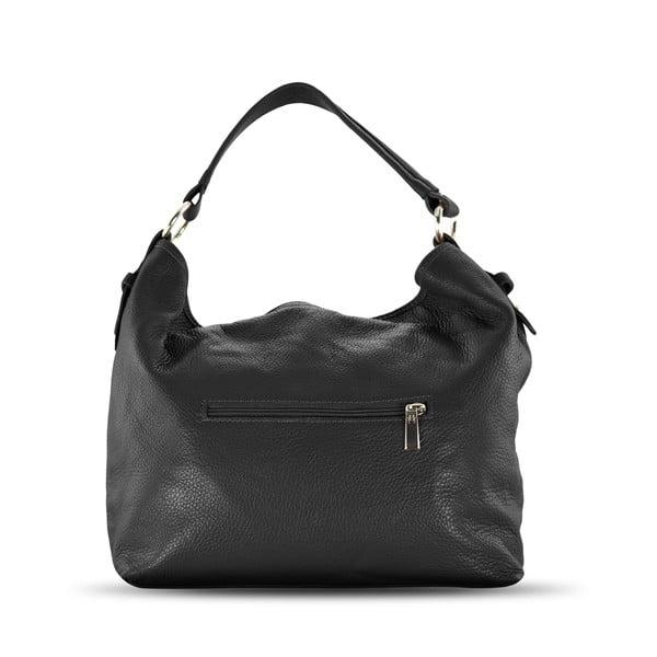 Kožená kabelka Audrey, čierna