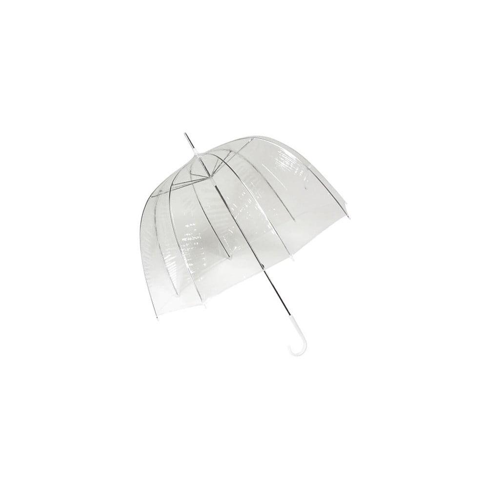 Transparentný tyčový dáždnik Ambiance Birdcage Cloche, ⌀ 77 cm