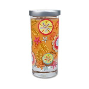 Vonná sviečka Glass Bridgewater Candle, vôňa kokosu a vanilky