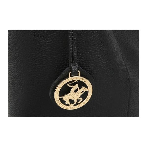 Čierna kabelka z eko kože Beverly Hills Polo Club Rita