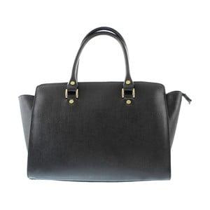 Čierna kožená kabelka Hawn
