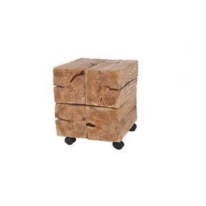 Drevený stolík na kolieskach Woodlogs