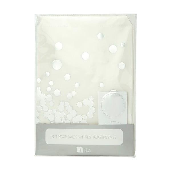 Sada 8 papierových vrecúšok Glassine Silver Dot