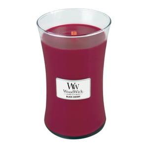 Sviečka s vôňou čiernych čerešní Woodwick, doba horenia 130 hodín