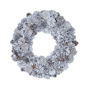 Biely adventný veniec so šiškami Green Gate Wreath Hailey, ø 31 cm