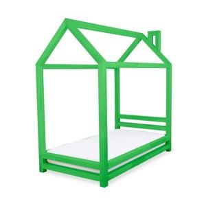 Dětská zelená postel z borovicového dřeva Benlemi Happy,90x200cm