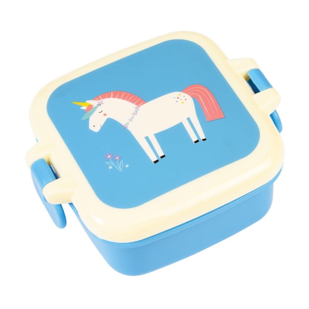 Modrý desiatový box s motívom jednorožce Rex London Magical Unicorn