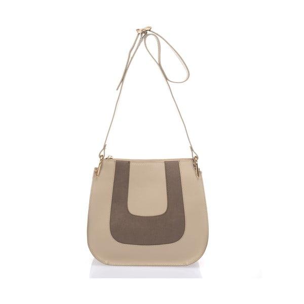 Taupe kožená kabelka Giulia Massari Belinda