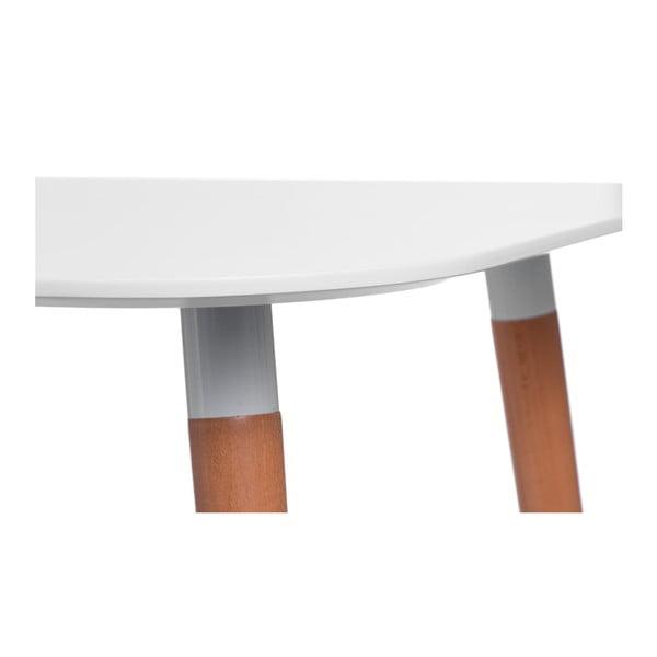 Stôl D2 Copine, 100x100 cm, biely