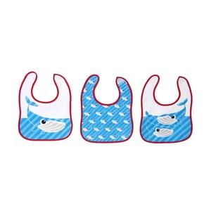 Sada 3 detských podbradníkov Bib Whale