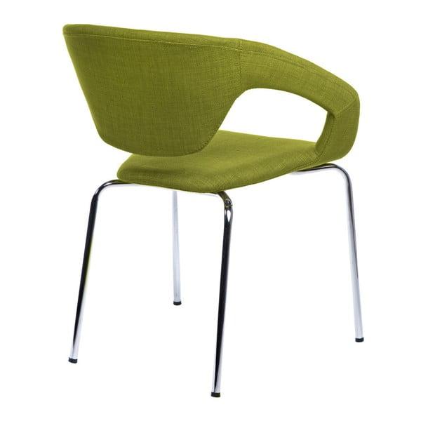 Sada 2 stoličiek D2 Space, čalúnené, zelené