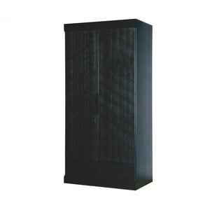 Čierna skriňa z borovicového dreva so zásuvkami DeEekhoorn Herringbone